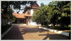 ID: 3536 - Beautiful Lao style house in town with large garden for rent