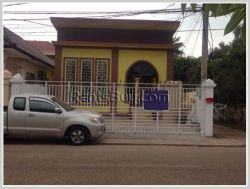 ID: 3038 - Nice villa house for rent near main road in Chanthabouly district