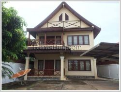 ID: 3748 - The beautiful house near Patuxay for rent in Chanthabouly district
