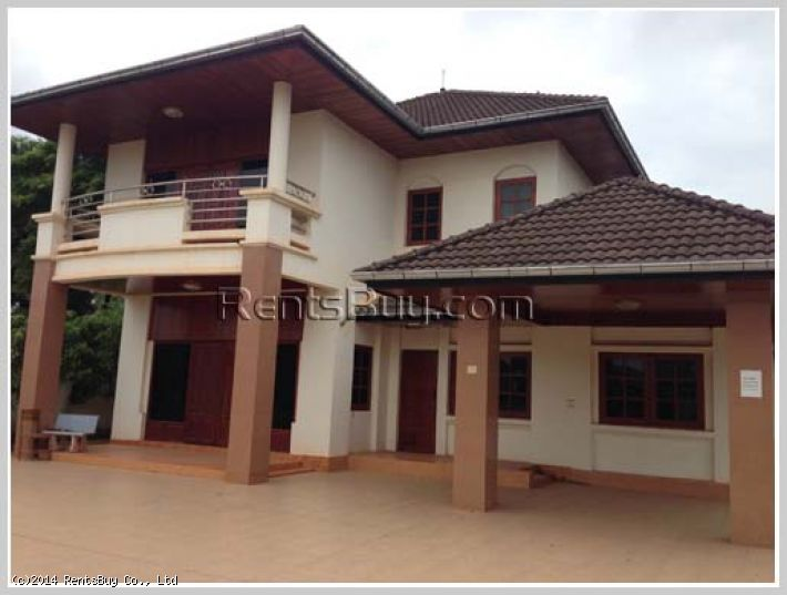 Id 2526 Nice Modern House In Quiet Area Near Russian Circus Rentsbuy Com Lao Leading Property Agency