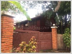 ID: 3772 - A lovely Lao style house near Embassy of Thailand for rent