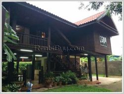 ID: 3667 - Lao style house near Sengdara Fitness for rent