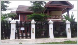ID: 3210 - New Lao style house with fully furnished in diplomatic area for rent