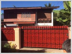 ID: 3489 - Lao style house with fully furnished for rent in diplomatic area