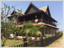 ID: 3083 - The new house with large garden and swimming pool for rent in Sisattanak district