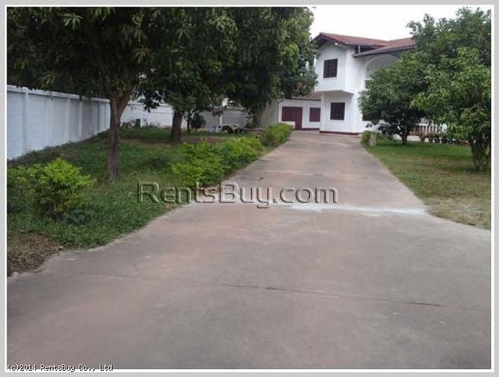 ID: 2686 - Fully furnished house for rent with large land in quiet area