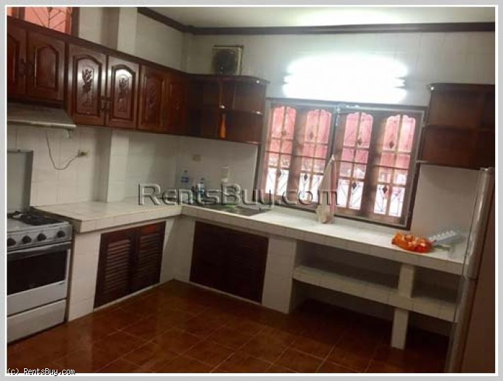ID: 3945 - The new house with large garden and fully furnished for rent in Sisattanak district