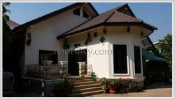 ID: 3721 - Affordable villa with nice garden for rent in Lao and foreign community zone