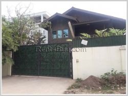ID: 3866 - Lao old style house near 103 Hospital and M-Point mart by pave road for rent