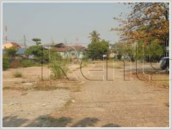 ID: 2962 - Nice plot of land by main road for sale in Chanthabouly district