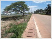 Vacant land by pave road at Nongnieng Village for sale
