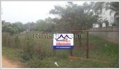 ID: 3893 - Land for rent by pave road in Ban Tanmesay in Saythany District