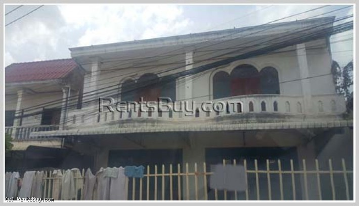 ID: 1205 - Shophouse near Vientiane College for rent