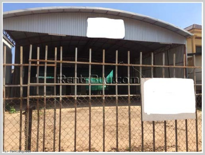 ID: 2682 - Nice warehouse near Sikay martket and main road for rent in Sikhottabong District